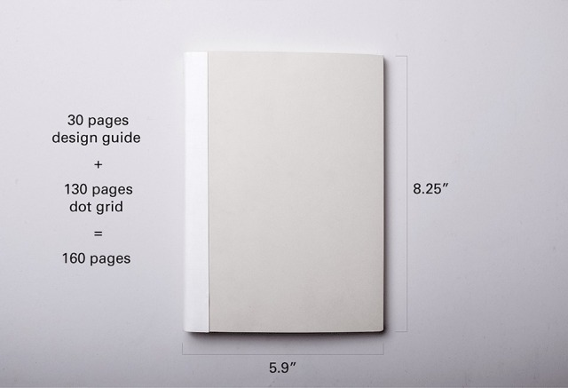 What is your perfect notebook? The founders of A:Log are proposing a combo design guide (think min-graphic standards) and dot-grid notebook.
