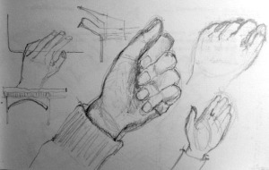 My own hand's sketch