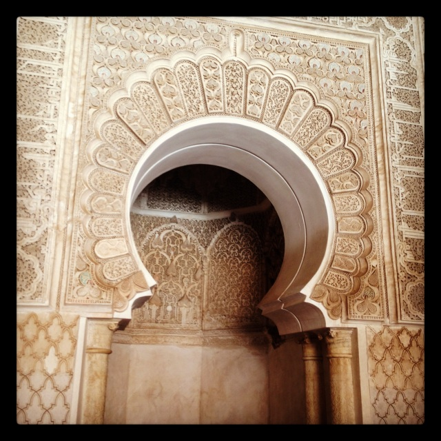 Horseshoe arch in Marrakech