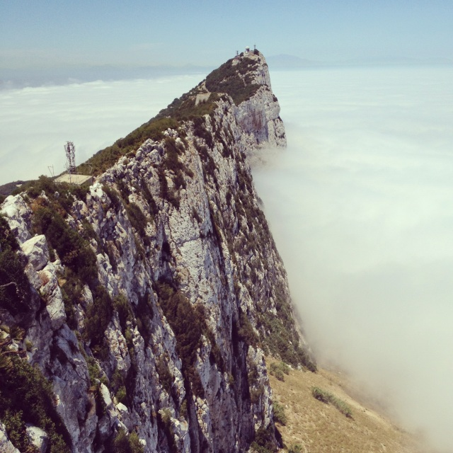 Gibraltar peak, above the clouds.