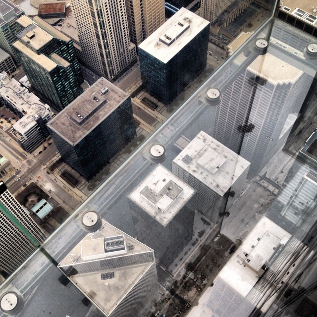From the top of the (formerly Sears now) Willis Tower
