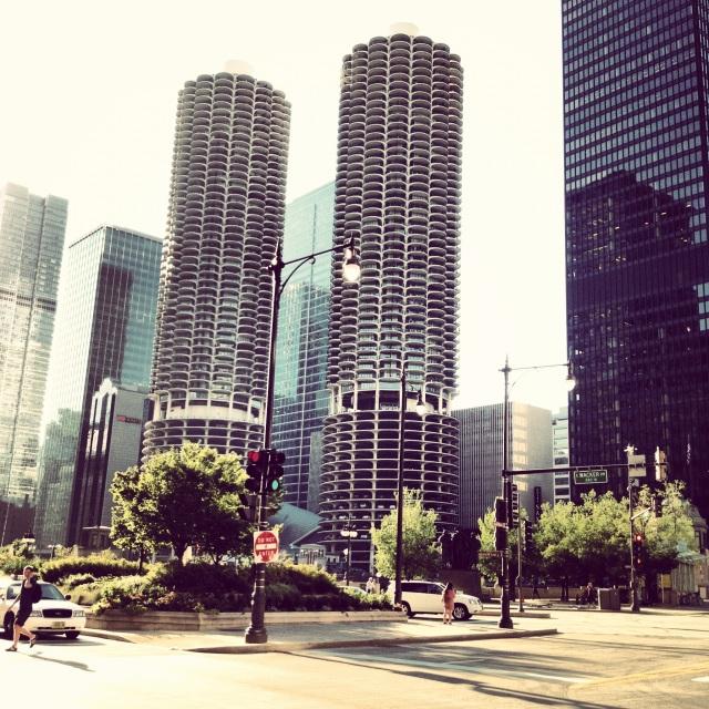 Marina City never looks bad.