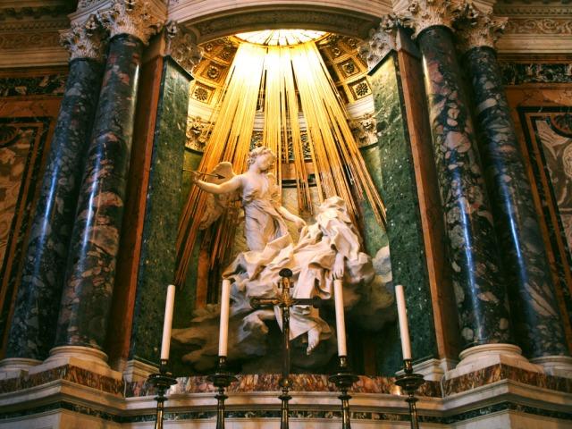 Bernini's artwork in Santa Maria della Vittoria