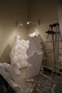 (EPS) Foam Home in process, by Grisha Enikolopov, Nico Guida, and Jessica Jorge (Xu Zhang)