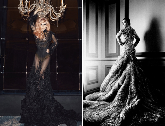 Saverio's design worn by Lady Gaga and Kim Kardashian