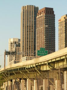 A Robert Moses project that actually was built: the West Side Highway in New York. Photo credit ShareAlike 2.5.