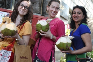 Mostly, we were productive, but sometimes we drank coconuts