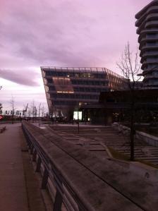 HafenCity at dusk