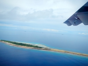 A Funafuti islet from above