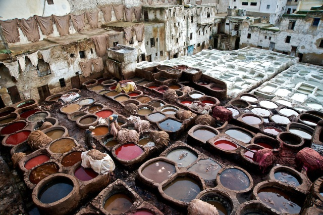The-tannery-at-Fez-Morocco